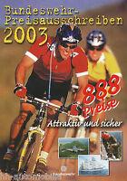 Deutsche Bundeswehr Preisausschreiben Prospekt 2003 brochure German Army