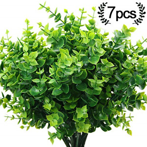 ElaDeco Artificial Boxwood (Pack of 7),Artificial Farmhouse Greenery 8541836473