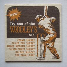 WOODLEY'S SIX CREAM SILVER DRY SWEET AMBER MEDIUM SHERRY GOLDEN MUSCAT COASTER
