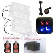 12V 2 Seats 4 Pads Heated Seat heating Heater Pads + Digital 5 Level Switch