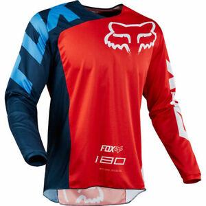 FOX RACING 180 MOTOCROSS MX BIKE MTB JERSEY - RACE RED