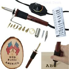 Wood Burning Versa Tool Kit Temperature Control Pyrography Pen Tips Art Crafts