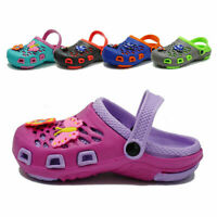 Kids Girls Boys Cute Clogs Summer Cartoon Sandals Slip On Slippers Water Shoes