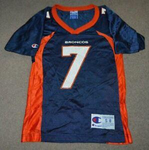 Vtg John Elway Denver Broncos Champion Football Jersey YOUTH Small (8)
