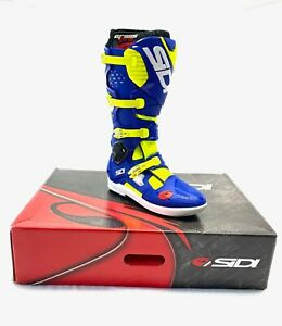Sidi Crossfire 3 SRS Motocross Boots size 44 - Blue and Lime