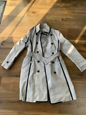 Ladies Karen Millen UK Size 14 - Beige Trench Coat
