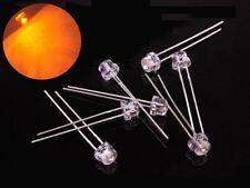 S378 - 50 Stück 5mm LEDs orange klar Kurzkopf straw hat Flachkopf amber