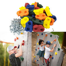 30 Pcs Large Kids Rock Wall Hand Climbing Holds Mounting Hardware Screw Rocks In