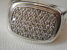 $3150 DAVID YURMAN SS MENS WHITE DIAMOND RING