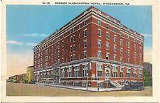 George Washington Hotel in Winchester VA Postcard