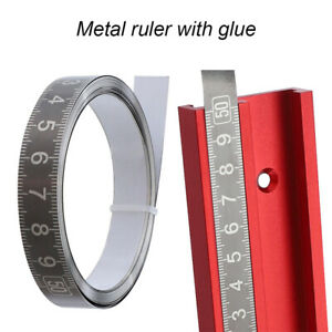Stainless Steel Miter Track Tape Measure Self Adhesive Woodworking Ruler