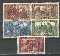 Germany - Saar 1950 Sc# B77-B81 Used VG/F - Rare used semi postal set