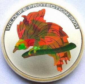 Congo 2004 Bird of Paradise 10 Francs Silver Coin,Proof