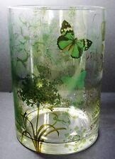 English Garden Fringe Studio Cylinder Glass Vase Candle Holder Container