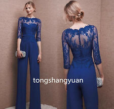 Mother Of The Bride Pant Suit Chiffon Lace Wedding Mother's Groom Evening Dress