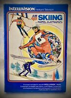 US SKI TEAM SKIING - Vintage 1980 Mattel Intellivision - Complete Video Game