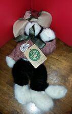 "BOYDS BEARS MRS PETRIE BLACK WHITE CAT KITTY HAT FALL 919752 RETIRED 12"" 1990-99"