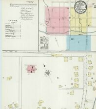 Flemingsburg, Kentucky~Sanborn Map© sheets~9 maps made~1886 to 1898 ~full color.
