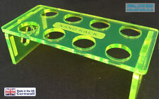 Reef Rack, Coral Frag Rack, Acid Green Acrylic  Rack 8 Hole for ZOA, LPS,  SPS