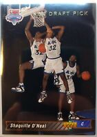 SHAQUILLE O'NEAL 1992-93 Upper Deck Rookie Card #1 DRAFT PICK Shaq HOF RC
