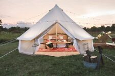 AU Shipped 3M/4M/5M/6M Family Camping Cotton Canvas Bell Tent Glamping Yurt Tent