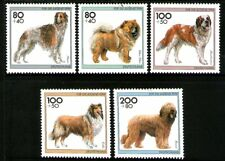 Germany 1996 Dogs set of 5 Mint Unhinged
