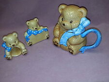 Lot 6 Child's Party Sets - Country Bear - Headed Mugs, Napkin Rings & Name Tags