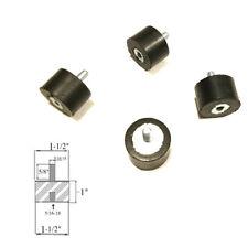 "4 Rubber Vibration Isolator Mounts (1-1/2 Dia x 1"" Ht) 5/16-18 x 5/8 Length Stud"