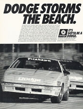 1988 Dodge Daytona Firehawk IMSA Race Car Advertisement Print Ad J253
