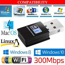 Mini USB WiFi N LAN 300Mbps Wireless Network Adapter 802.11n/g/b Dongle