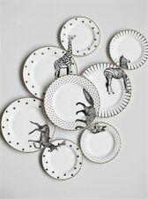 2pcs Set CUTE Ceramic  Plates For Kids Dinner Side Dish White Porcelain Plate