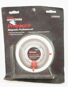 Craftsman Protractor / Angle Finder w/ Magnetic Base & Back 939840 -Made in USA