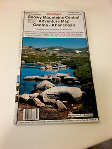 Rooftop's Snowy Mountains Central Adventure Map-Cooma-Khancoban-2008-Like New.