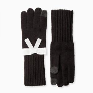 Kate Spade Grosgrain Bow Bow Black Glove