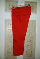 NWOT Women's Silver Jean Co. Suki Flap Orange Capri's Sz 28. Beautiful Perfect