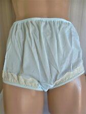 Dixie Belle Usa Heavenly Blue Nylon & White Lace Panty Brief 7/L
