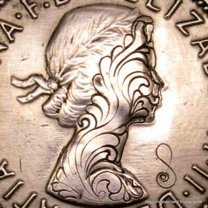 1966 'Sail' by Shaun Hughes Freeform Hand Engraved British 1/2 Penny Hobo Nickel