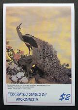 Micronesia Japanese Painting Peacock 2005 Bird Art Flower (ms) MNH *imperf