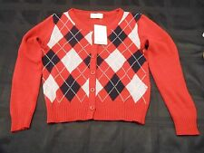 ZARA cardigan patterned red sweater Medium patterned