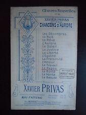 """Partition """"Chansons d'aurore - Le repos"""""""