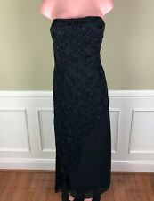 Vintage Mia Bella Womens Dress Formal Evening Pageant Heavily Beaded Long Sz 10