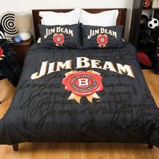 Quilt Cover Set Double Bed Jim Beam Bourbon Doona Pillow Cases Bedding