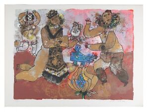 """""""Festive Evening"""" by Theo Tobiasse Signed/Numbered Lithograph LE of 250 w/ CoA"""