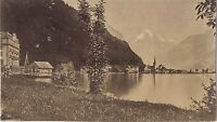 Fluclen Suisse Vintage Albumina Ca 1870 Piccolo Formato 5x8,8 CM