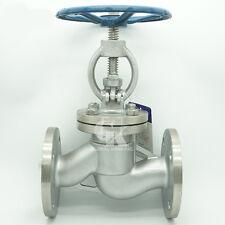 "DN50 2"" GB J41W-16P CF8 Flanged Globe Valve Water Steam Stainless Steel 304"