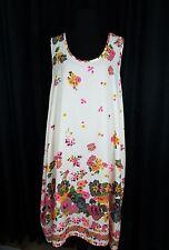 Cherish Floral Sleeveless Tunic Dress Loose Fitting Size L