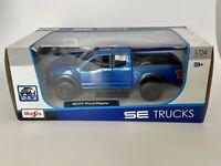 Maisto - 31266 - 2017 Ford Raptor F150 - Scale 1:24 - Blue SE Trucks