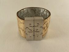 Rustic Cuff Vintage Attraction Gold Shimmer w/Silver Magnetic RARE RC Bracelet