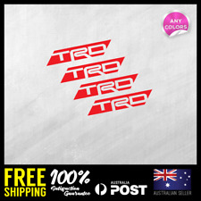 4x Toyota TRD Racing Development Wheel Sticker Rims Decal JDM 71x14mm