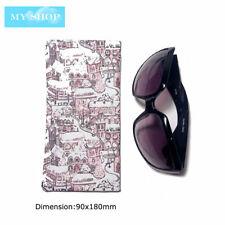 Faux Leather Sunglass Eyeglass Glasses Case Soft Pouch Snap Shut-Fairy Tale City
